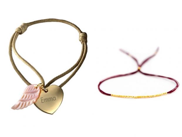 Petits Trésors Coeur d'Ange Bracelet, £36.50 & Vivien Frank Designs Bracelet £25