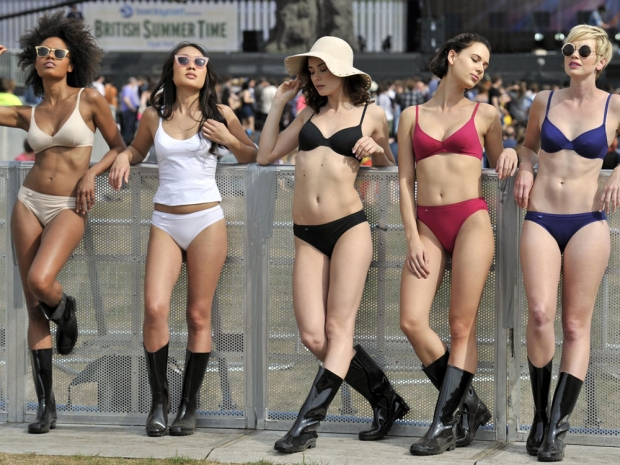 Sloggi models at British Summer Time