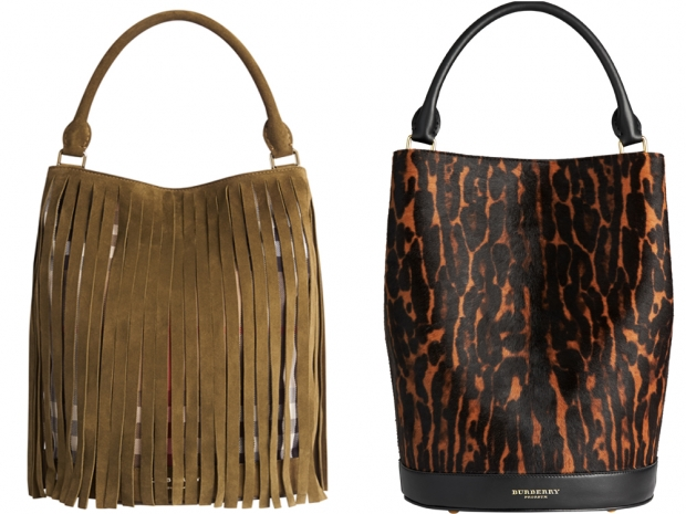Burberry's bucket bags for AW15