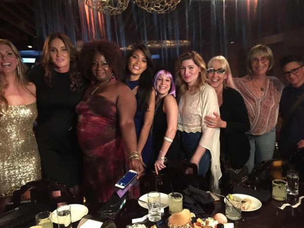 Caitlyn Jenner with friends at dinner in New York