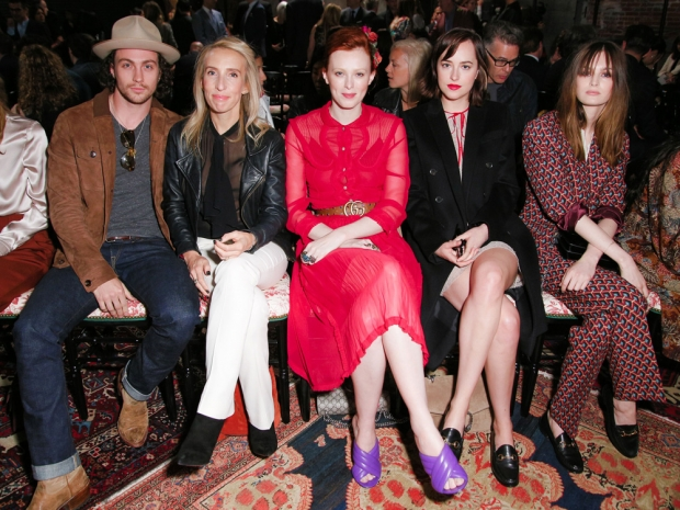 Front row at the Gucci resort 2016 show