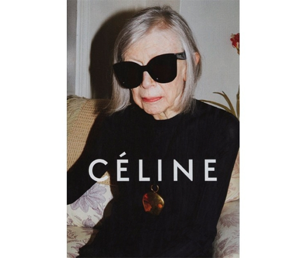 The rise of the 'mature' model: Joan Didion (80) features in the Celine campagin