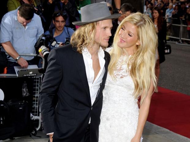 Ellie Goulding with her boyfriend Dougie Poynter