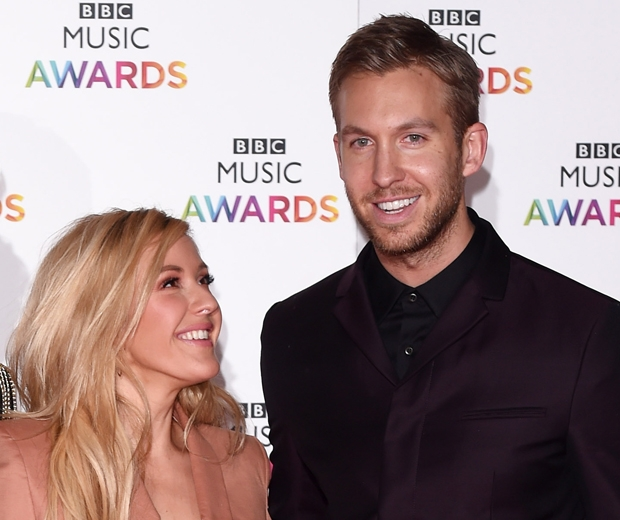 ellie goulding and calvin harris at BBC Music Awards