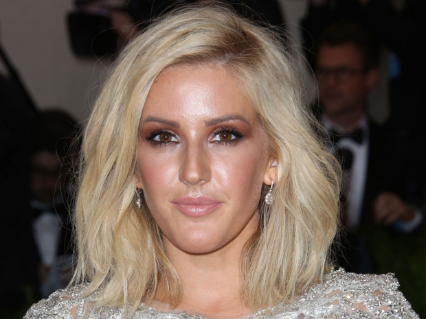 Ellie Goulding with her usual make-up look