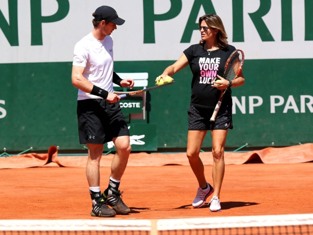 Andy Murray with his coach, Amelie Mauresmo