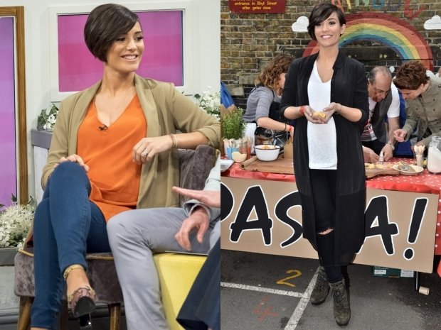 Frankie Bridge showing off her maternity fashion hits