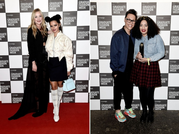 (L) Laura Whitmore with Bip Ling and (R) Gok Wan with Hannah Wallace