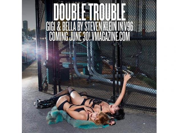 Gigi Hadid and Bella Hadid in V Magazine shoot.