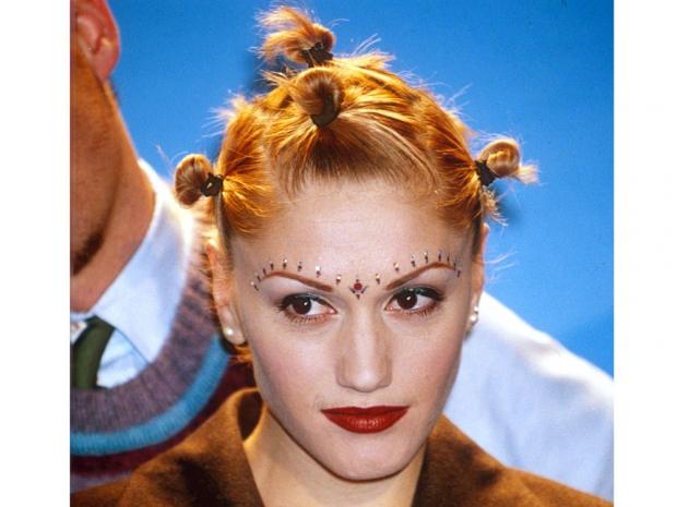 Gwen Stefani with multiple buns