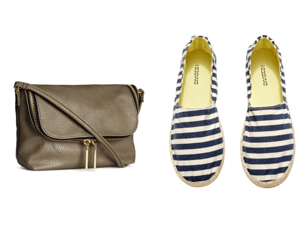 H&M Small Shoulder Bag, £7.99 & H&M Espadrilles, £7.99