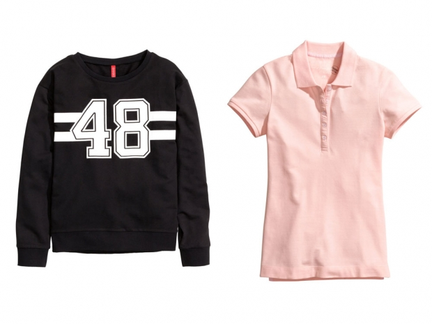 H&M Sweatshirt, £5.99 & H&M Polo Shirt, £7.99
