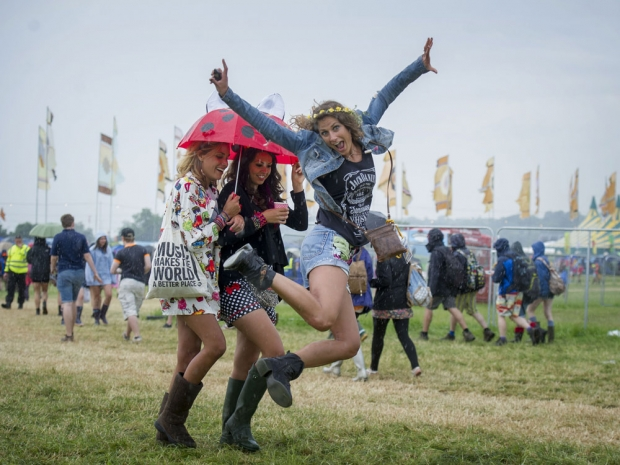 Festival fan at Glastonbury