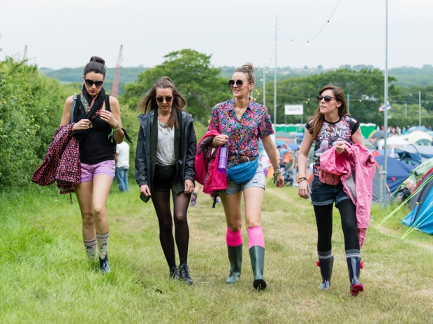 Girls at the Isle of Wight festival
