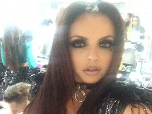 Jesy Nelson sporting body and hair glitter in Instagram photo