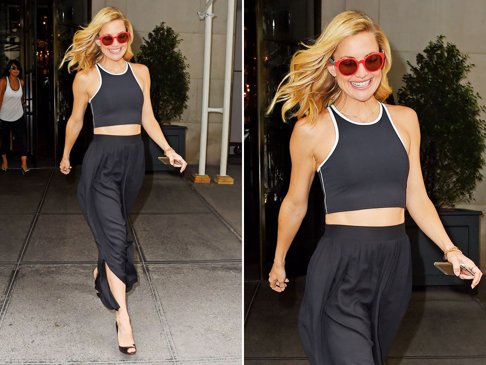 Shop Kate Hudson 39 S Sporty Separates On The High Street Look