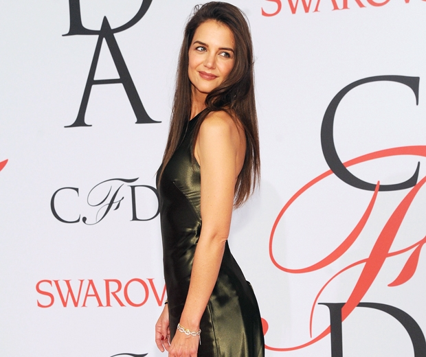 katie holmes in green ralph lauren dress at CFDA fashion awards