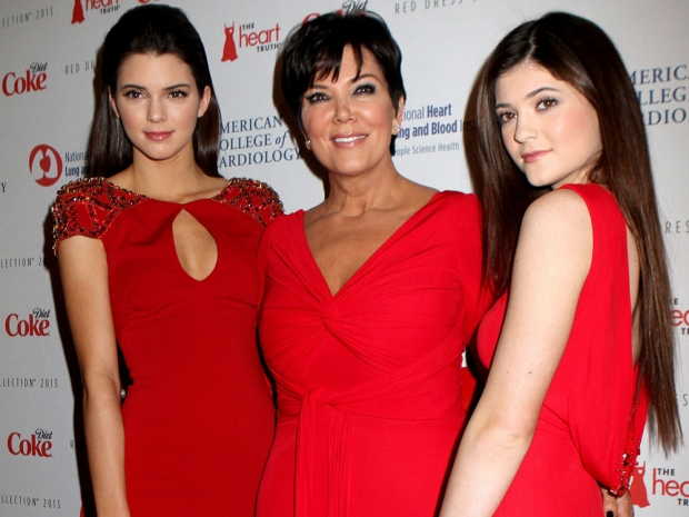 Kendall and Kylie with mum Kris Jenner