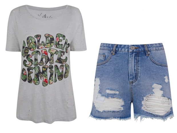 Kendall and Kylie Jenner's designs from their new collection, sold at Topshop