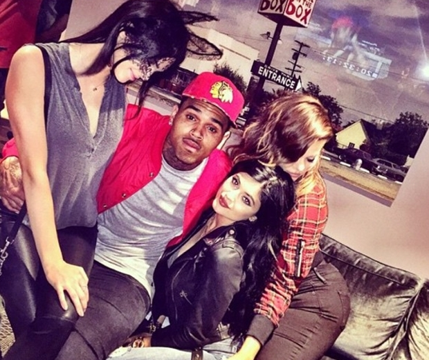 Kylie and Kendall have been friends with Chris Brown for years