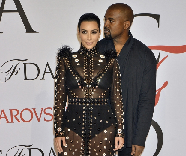 kanye west and kim kardashian at cfda fashion awards 2015