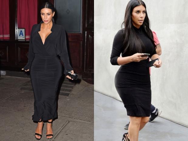 Kim Kardashian wearing LBDs