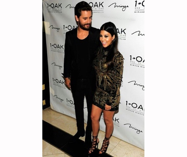 Kourtney Kardashian and boyfriend Scott Disick at nightclub