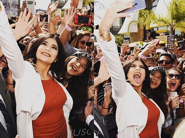 Kylie Jenner mobbed by fans
