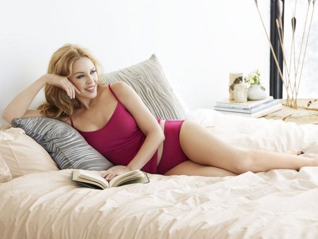 Kylie Minogue modelling Sloggi