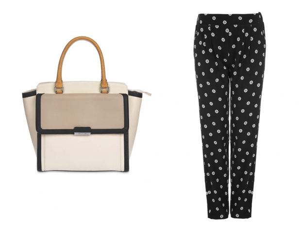 Laura Ashley Tote Bag, £50 & Laura Ashley Printed Trousers, £45