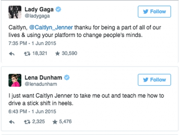 Celebrity reactions to Caitlyn Jenner