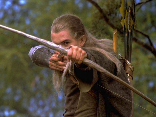 Orlando Bloom as Legolas in the Lord Of The Rings films