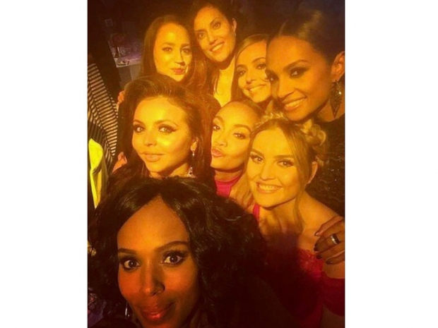 Little Mix with various celebrities on Instagram
