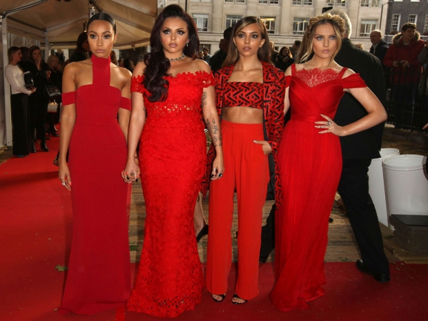 Little Mix in red outfits