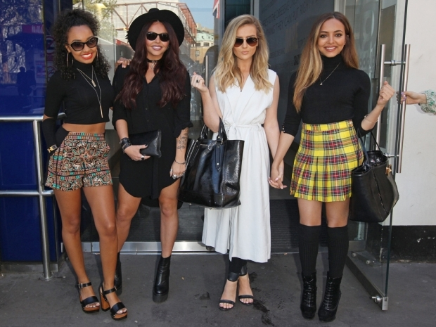 The Little Mix girls out in London