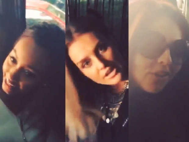 Leigh-Anne Pinnock, Perrie Edwards and Jesy Nelson in Instagram video