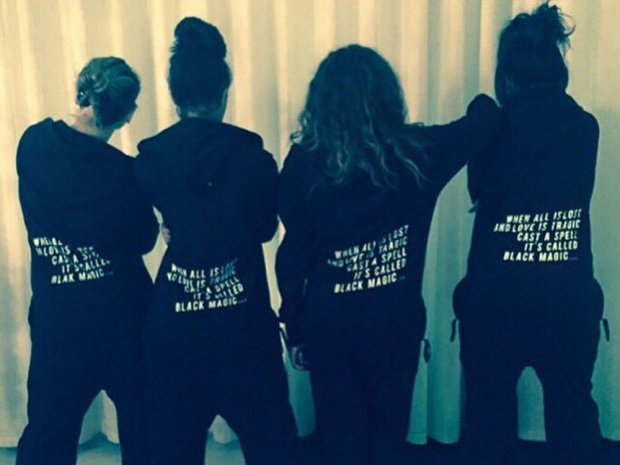The Little Mix girls in their matching onesies in Instagram photo