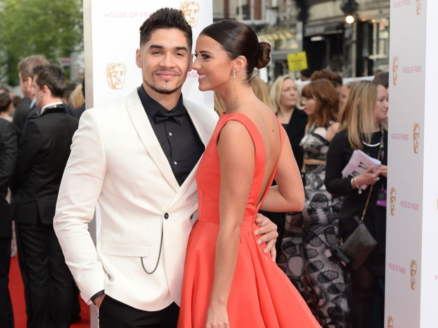 Lucy Meck and Louis Smith at the BAFTAs