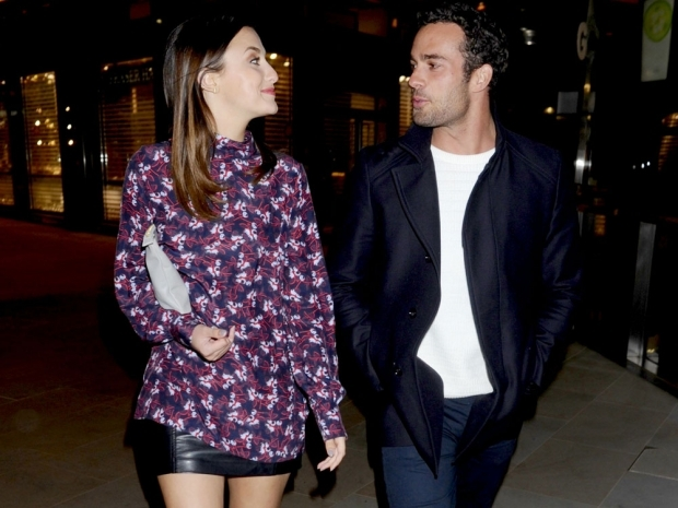 Lucy Watson and James Dunmore out in London