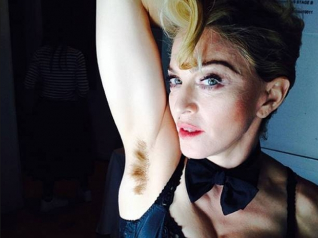 Madonna shows off her hairy underarms in Instagram photo
