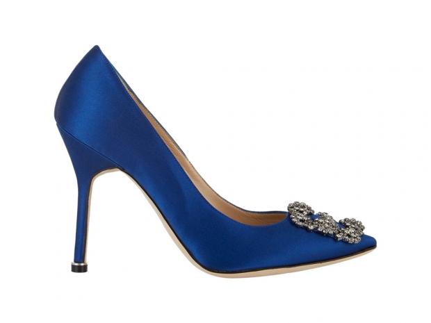 Blue Manolo Blahnik pumps