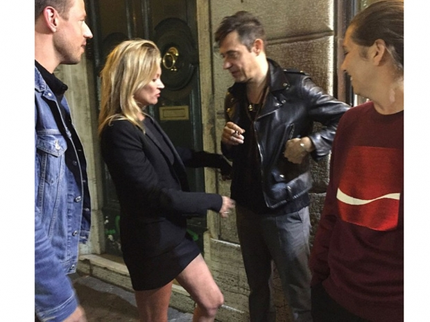 Kate Moss with husband, Jamie Hince out in Rome.