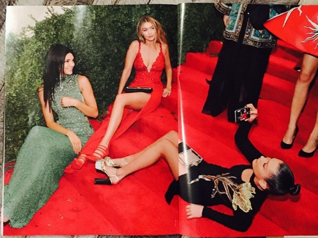 Kendall Jenner, Gigi and Bella Hadid in Vogue Magazine at the Met Balll.