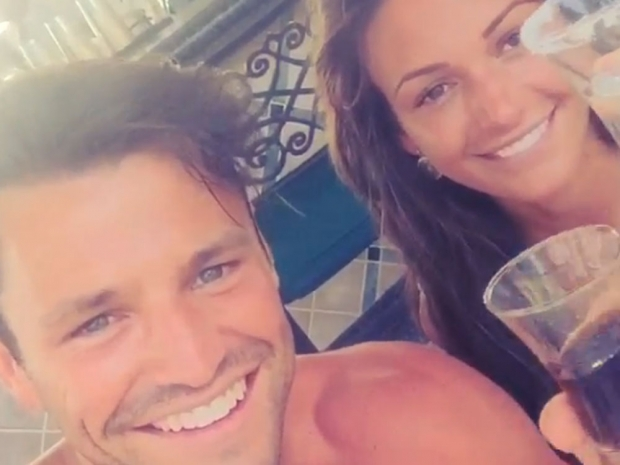 Michelle Keegan and Mark Wright do shots on honeymoon in Instagram video