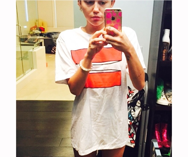 miley cyrus in equals sign t-shirt