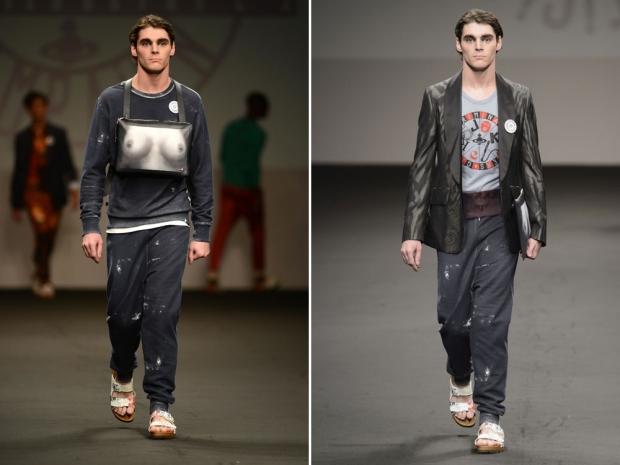 RJ Mitte models Vivienne Westwood