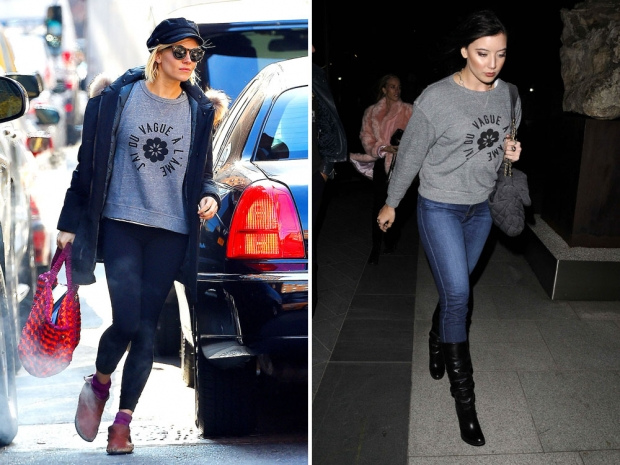Sienna Miller & Daisy Lowe both wearing AG New Wave