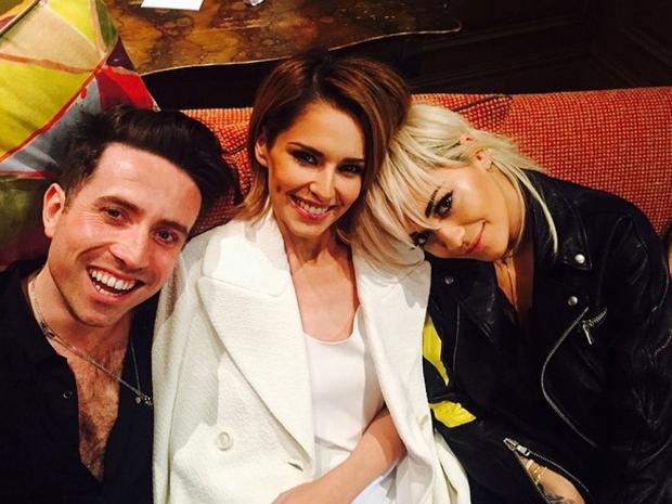 Nick Grimshaw, Cheryl Fernandez-Versini and Rita Ora in Instagram photo