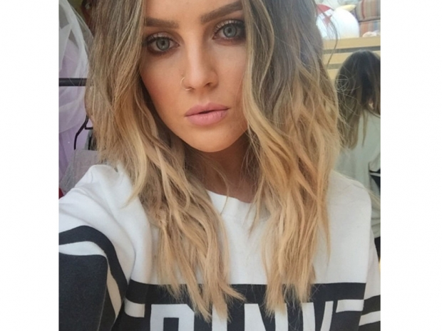 Perrie Edwards with long hair in Instagram photo