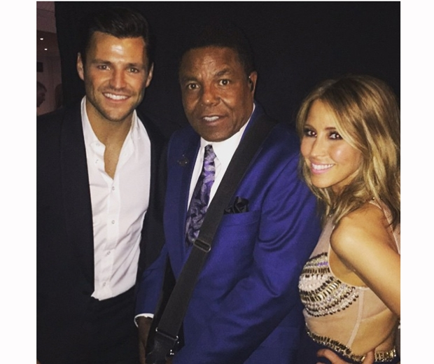 Mark Wright and Rachel Stevens and tito jackson at Butterfly Ball